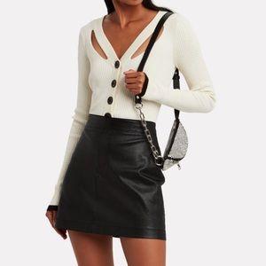 Helmet Lang Leather Miniskirt